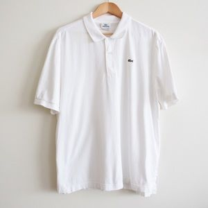 Lacoste Solid White Short Sleeve Polo 7 /XXL